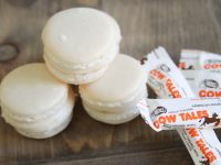 Everyday Party Magazine Vanilla Macarons with Cow Tales Caramel Filling