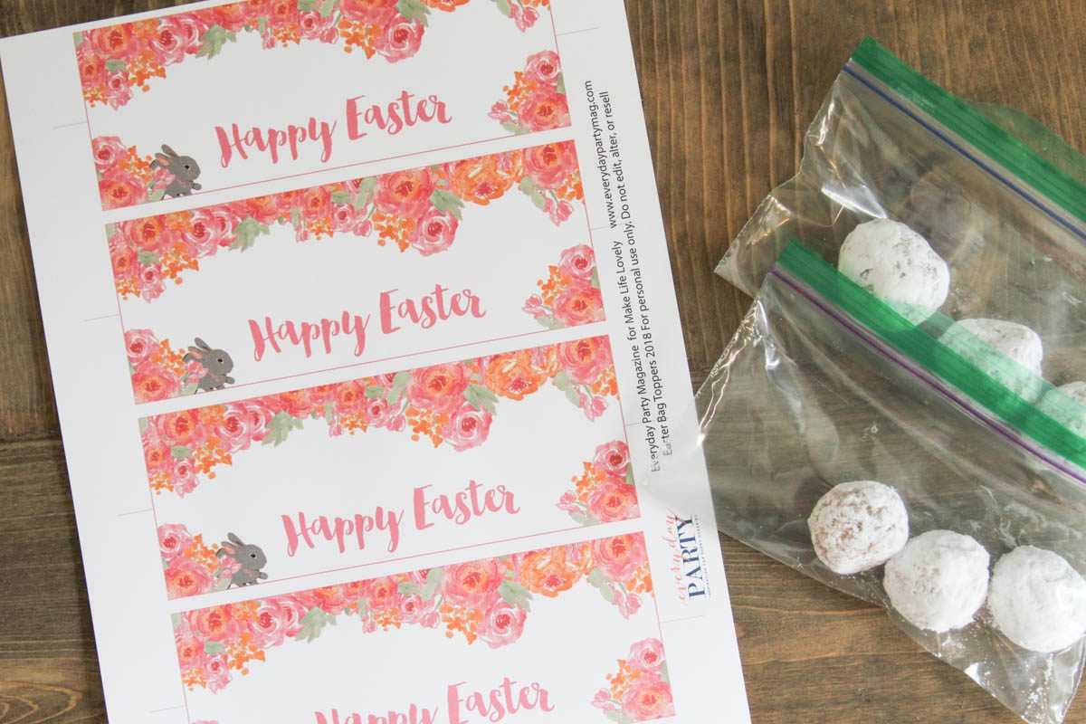 Happy easter treat bag topper printable make life lovely negle Gallery