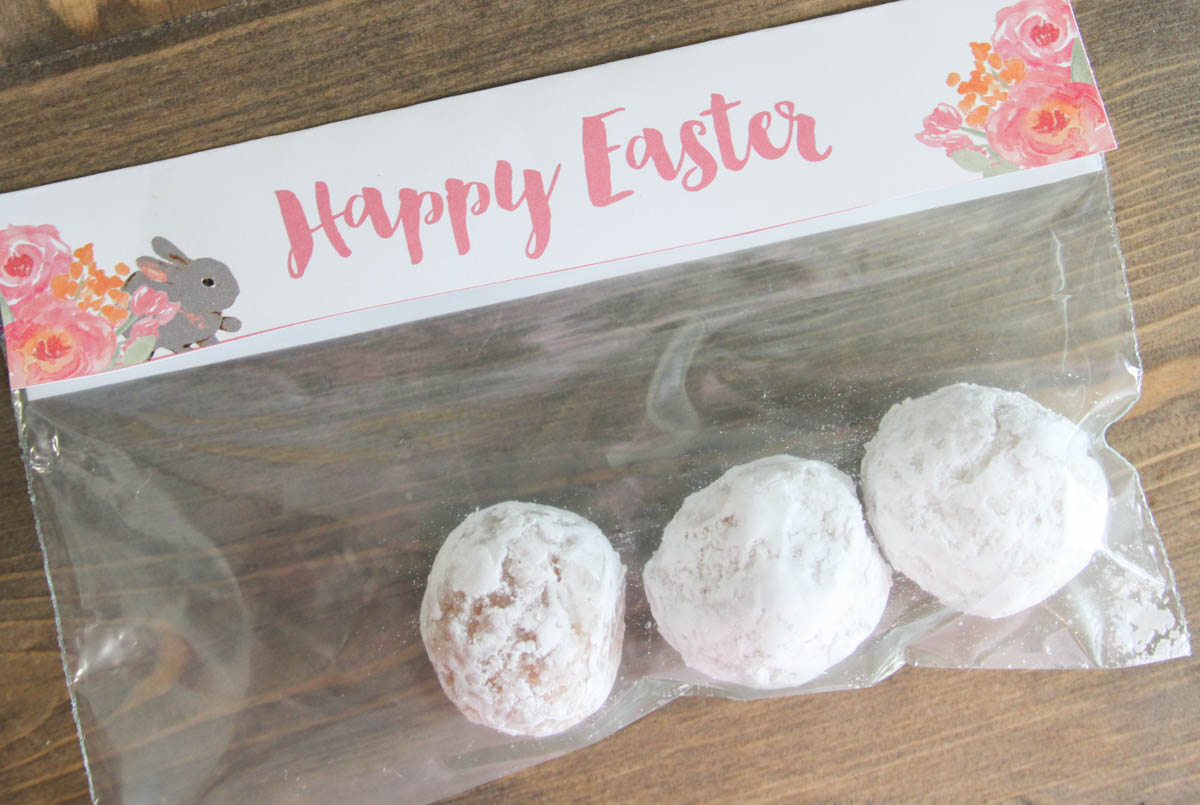 Easter treat bag topper printable