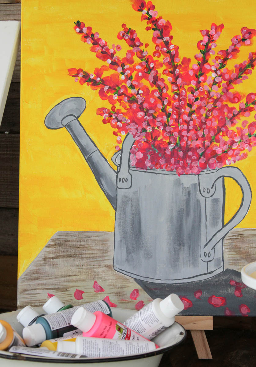 Everyday Party Magazine Spring Blossoms with Social Artworking #PaintParty #Painting #SocialArtworking #DecoArt