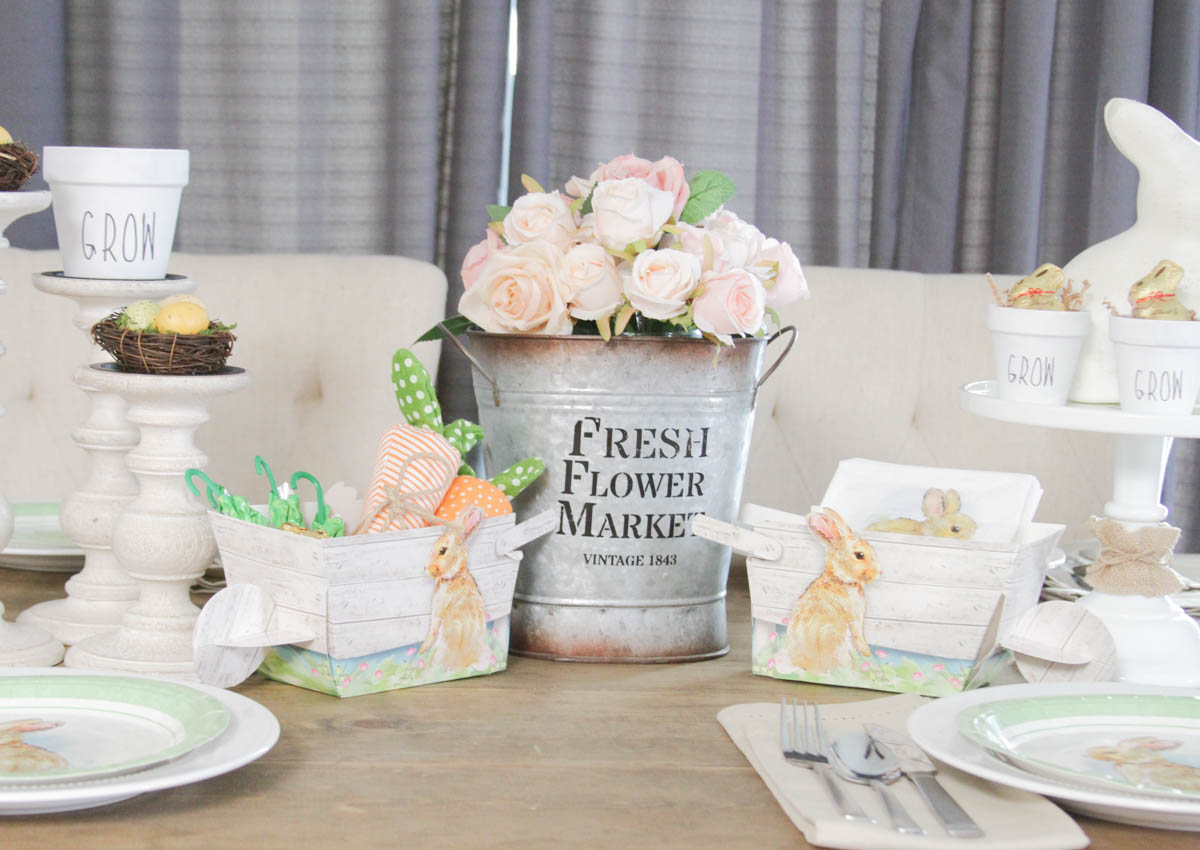Everyday Party Magazine Simple Easter Tablescape #Easter #tablescape #OrientalTrading