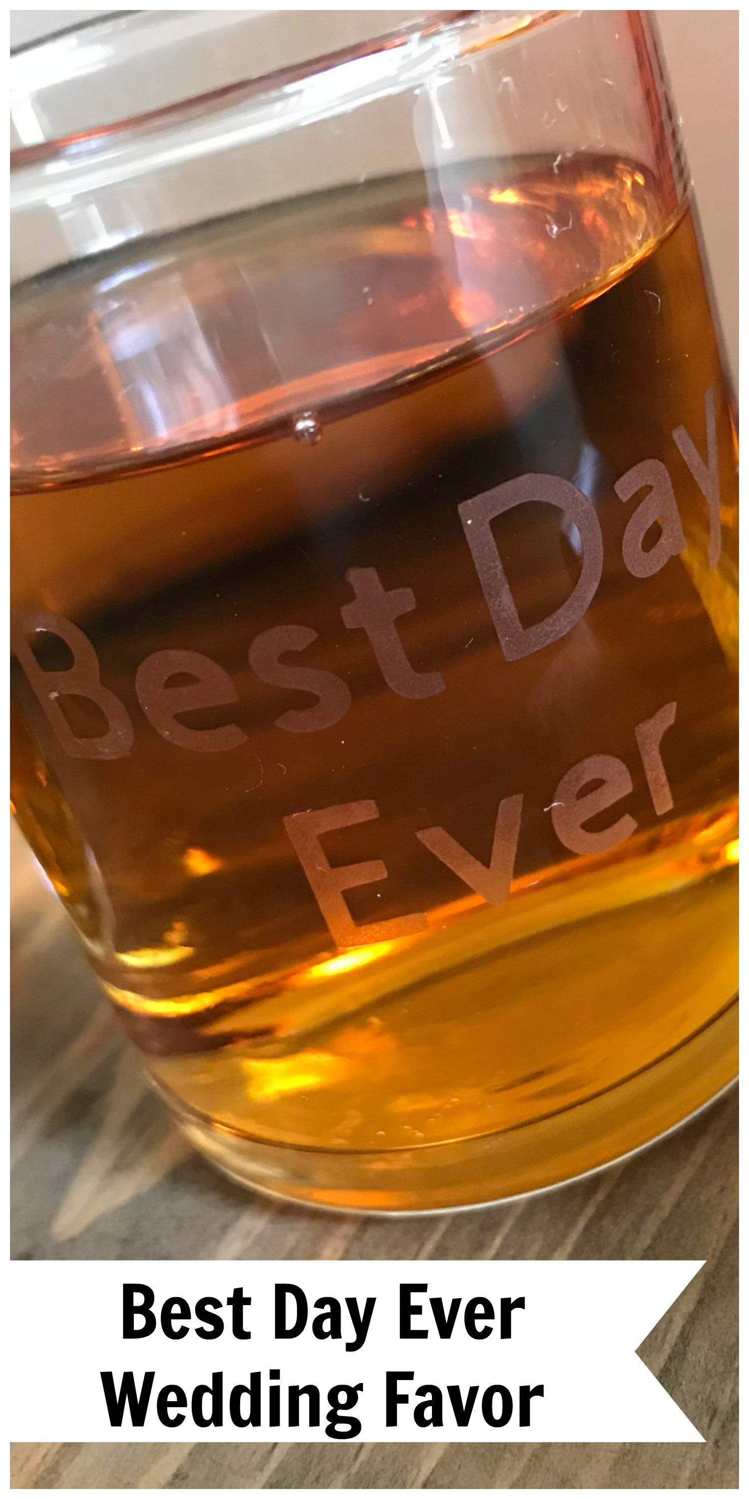 Everyday Party Magazine Best Day Ever Wedding Favor DIY With Cricut #wedding #DIY #CricutMade #BestDayEver