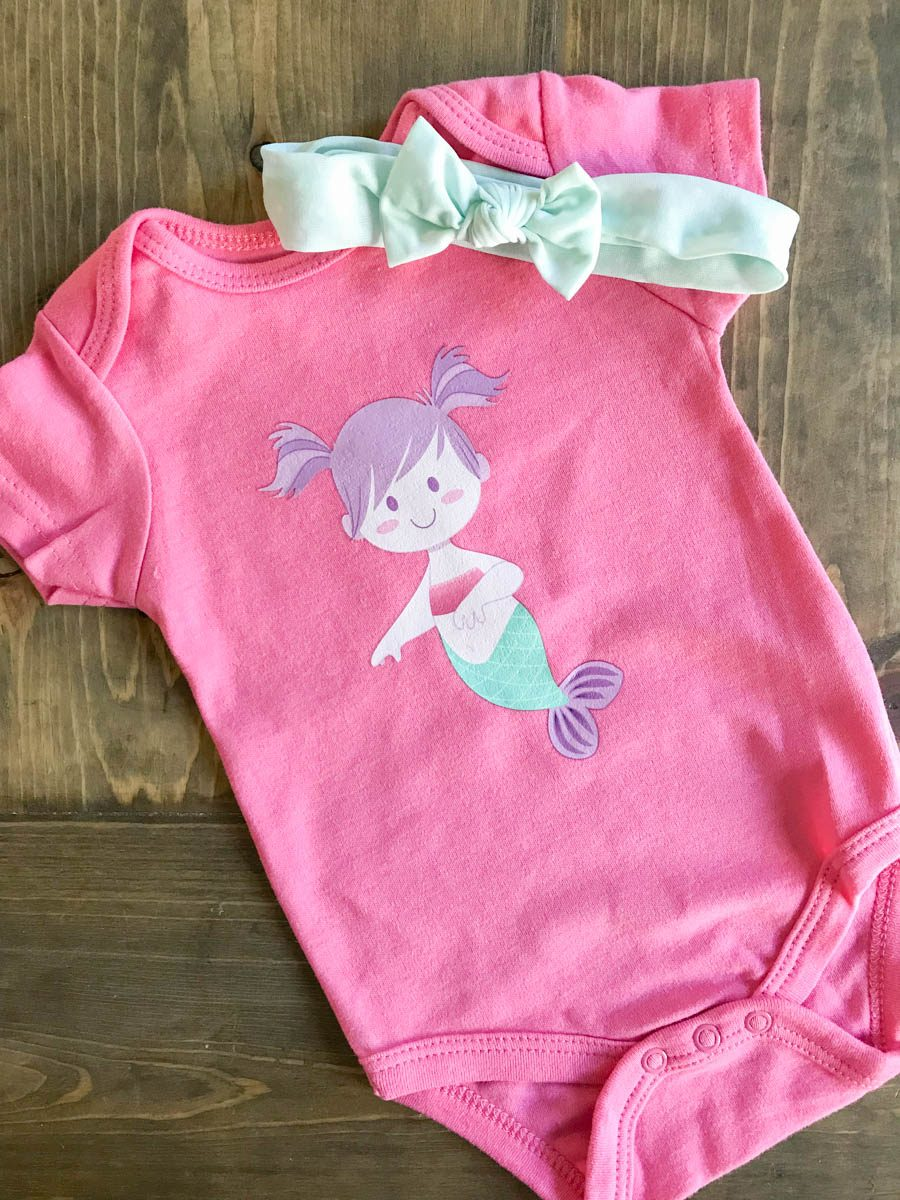 Simple Infant Onesies with Cricut Iron On Designs ...