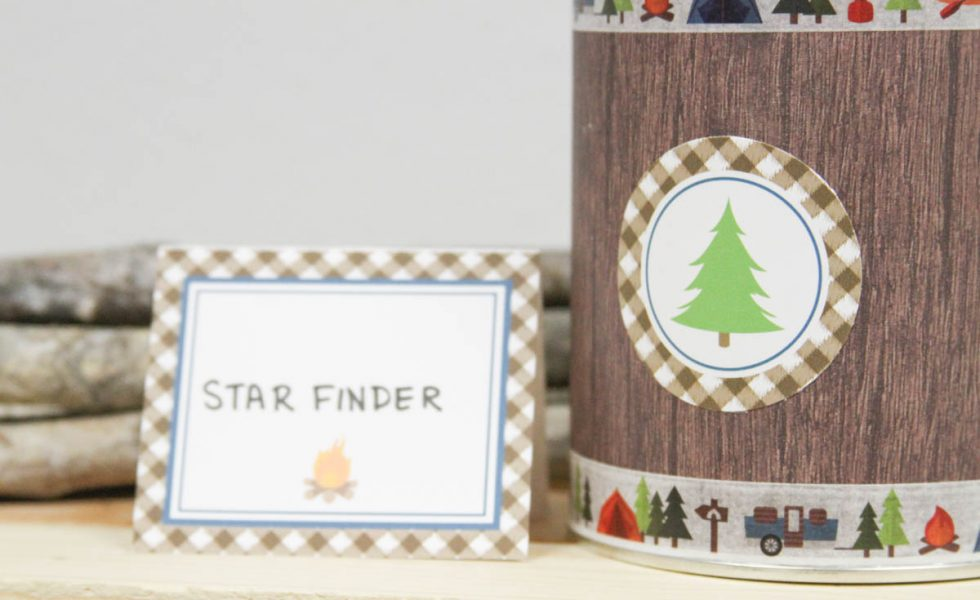 Everyday Party Magazine Star Finder DIY #CampingParty #SpaceParty #DIY #KidsCrafts