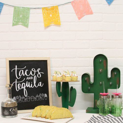 Everyday Party Magazine Tacos and Tequila Cinco de Mayo Party #CincoDeMayo #Party #DIY #CricutMaker #CricutMade #Cactus #SVG