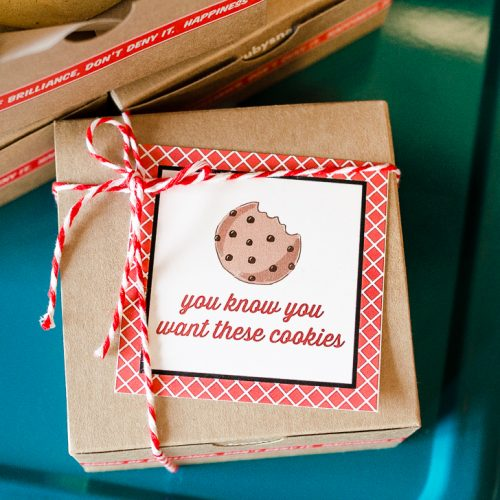 Everyday Party Magazine Teacher Appreciation Gift Tags #Cookies #TeacherAppreciation #GiftTags #FreePrintables