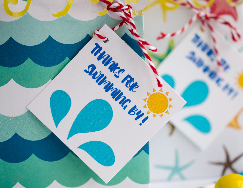 beach favor free printable