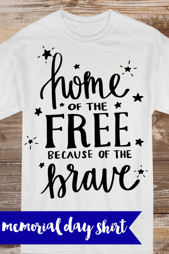 Everyday Party Magazine Memorial Day Shirt Ideas #MemorialDay #SVG #DIYShirt #CricutMade