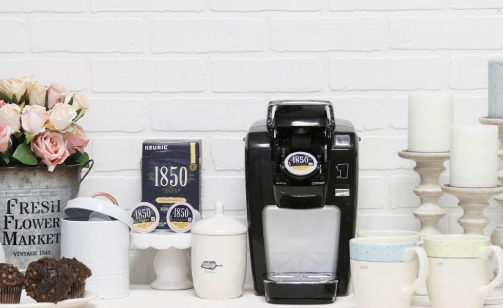 Everyday Party Magazine Simple DIY Coffee Bar #DIYCoffeeBar #HomeCoffeeBar #Coffee #KCups