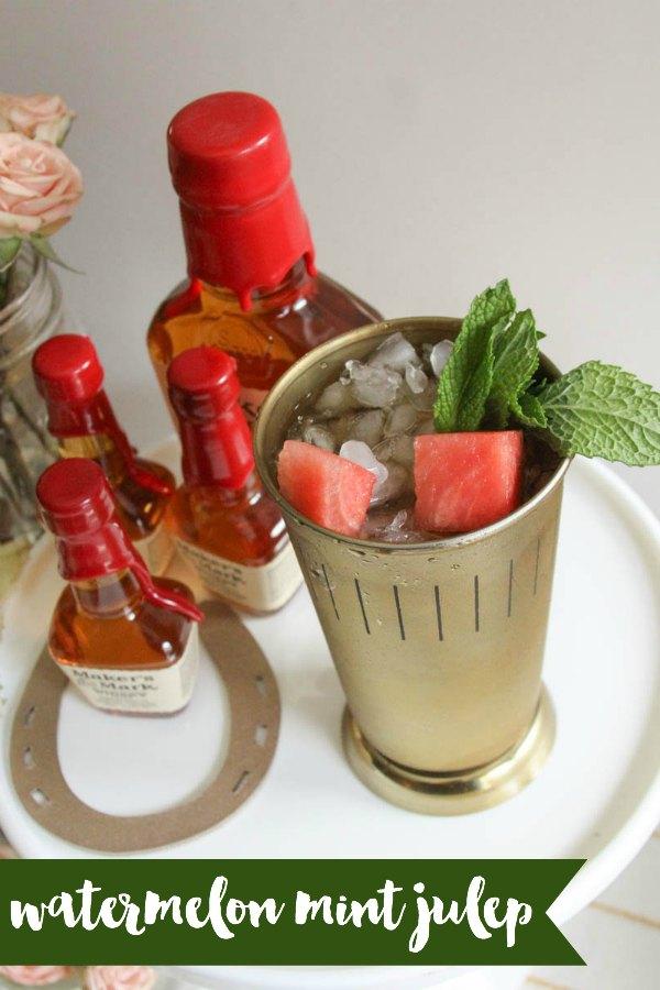 Everyday Party Magazine Watermelon Mint Julep Recipe  #MintJulep #DerbyParty #WatermelonMint #Bourbon #Recipe