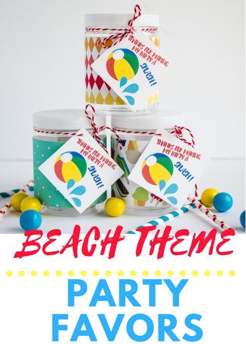 beach theme party favors ideas