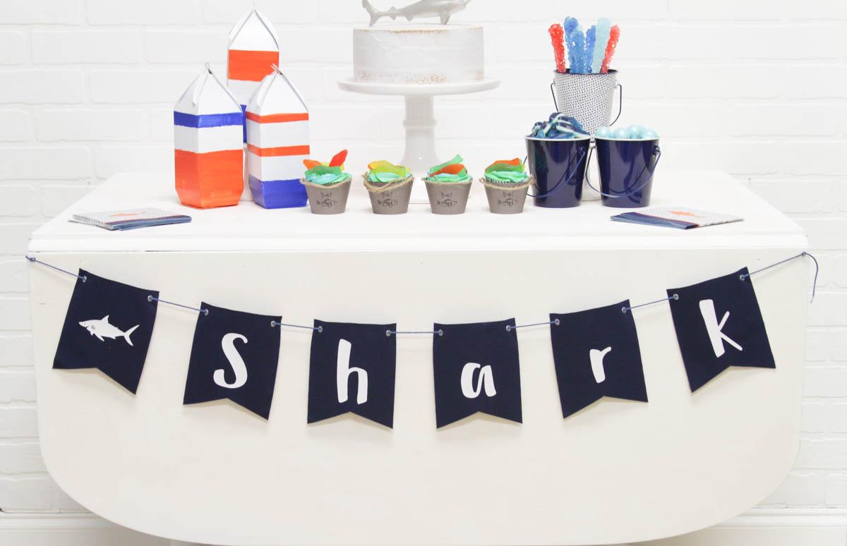 Everyday Party Magazine Shark Week Party #CricutMade #MarthaStewart #Michaels #SharkWeek
