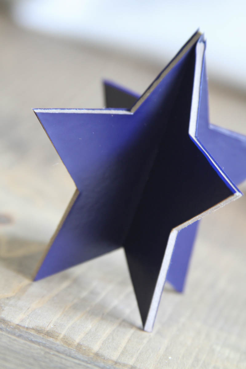 Everyday Party Magazine Simple 3D Star Decoration #CricutMade #DIY #Patriotic #unicorn