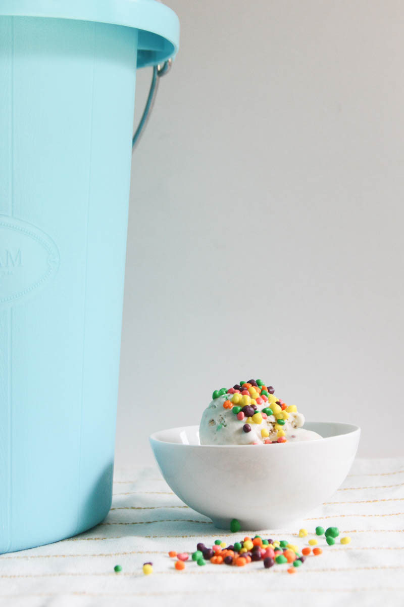 Everyday Party Magazine Summer Fun Ice Cream Recipe #IceCream #HomemadeIceCream #Nerds #NostalgiaElectrics