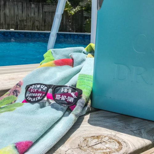 DIY Summer Party Invitations #Summer #PoolParty #OrientalTradingCo #CricutBlogger