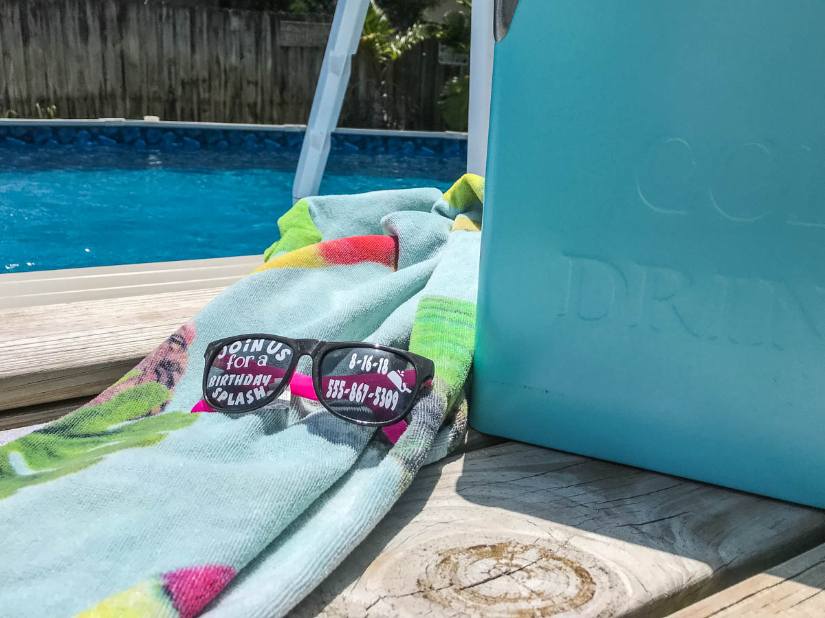 DIY Summer Party Invitations #Summer #PoolParty #OrientalTradingCo #CricutBlogger