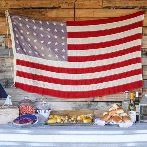Everyday Party Magazine Seaside Labor Day Party #LaborDay #Seaside #SeafoodBake #Patriotic
