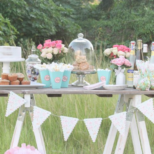 Everyday Party Magazine Shabby Chic Baby Shower #BabyShower #ShabbyChic #RusticChic #Shower #CricutMade #MarthaStewartCelebrations