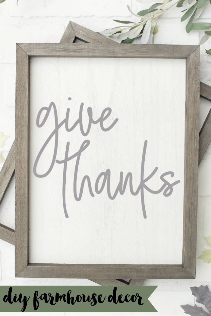 Farmhouse Give Thanks Sign