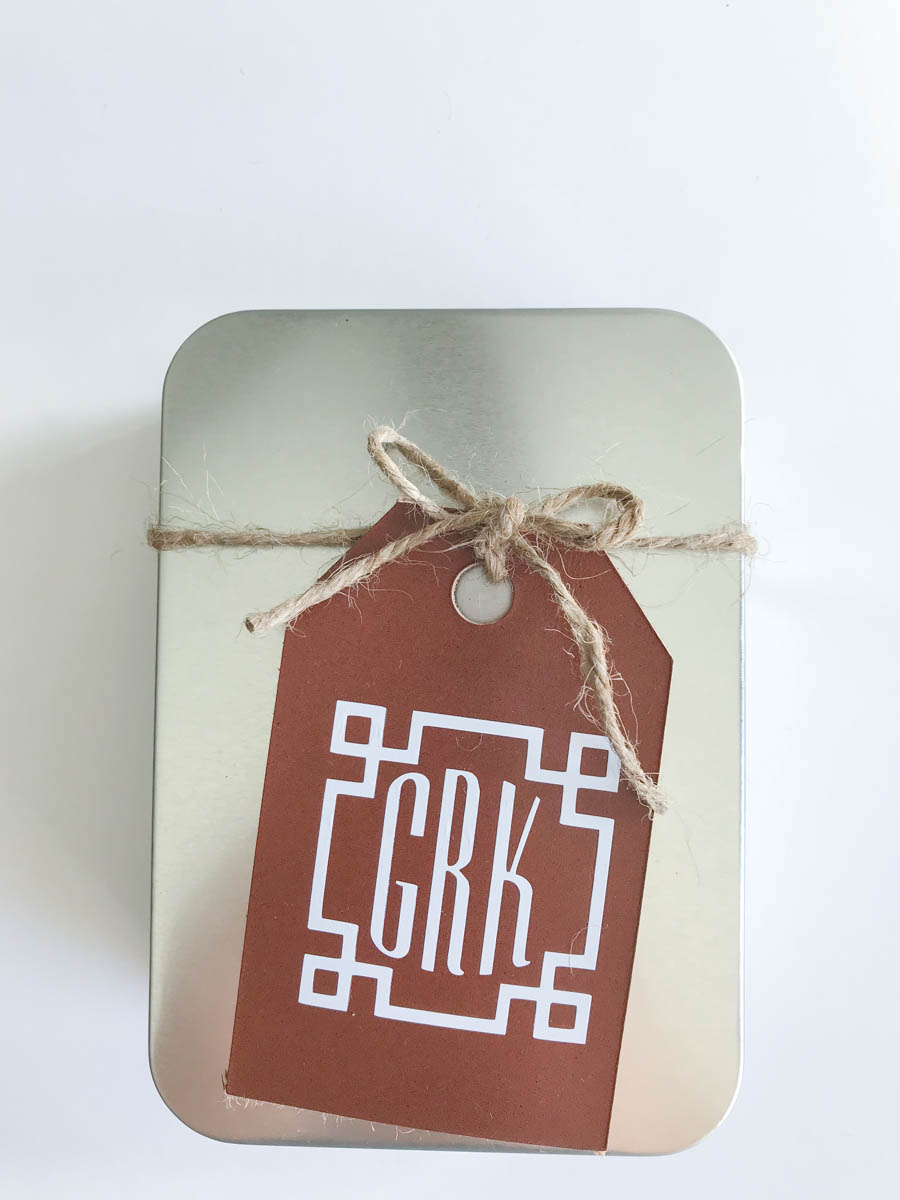 Metal Box Leather Luggage Tag