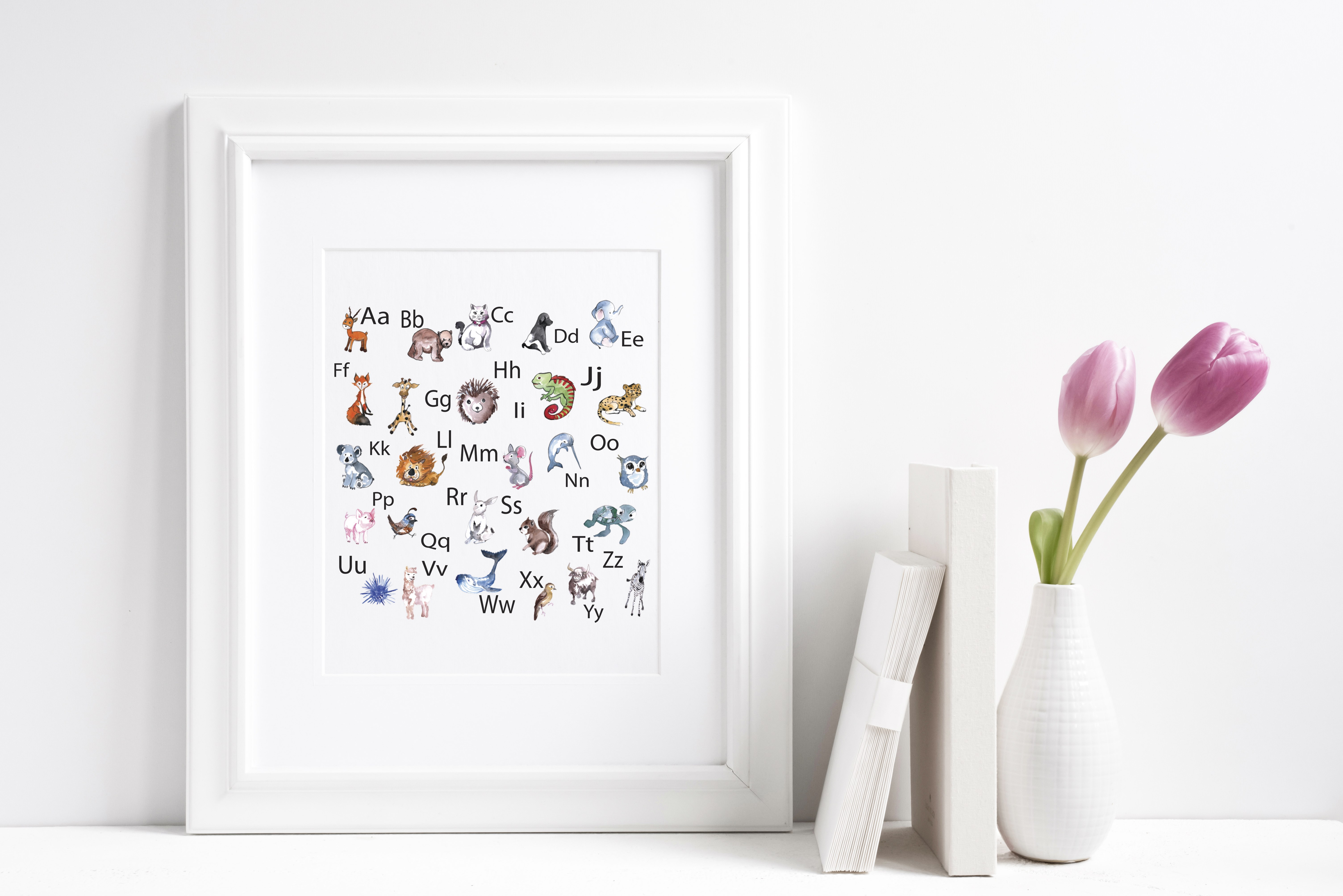 Alphabet Art Books and Flower