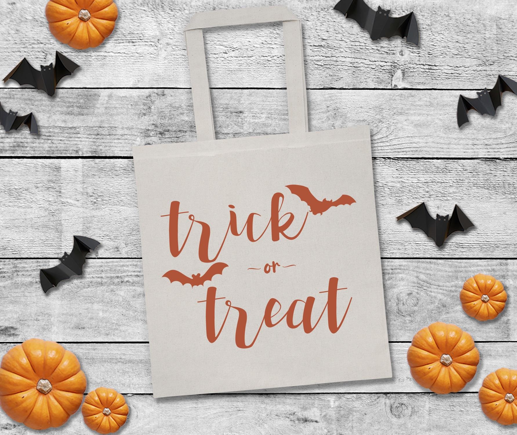 Trick or Treat Bag Pumpkins Bats