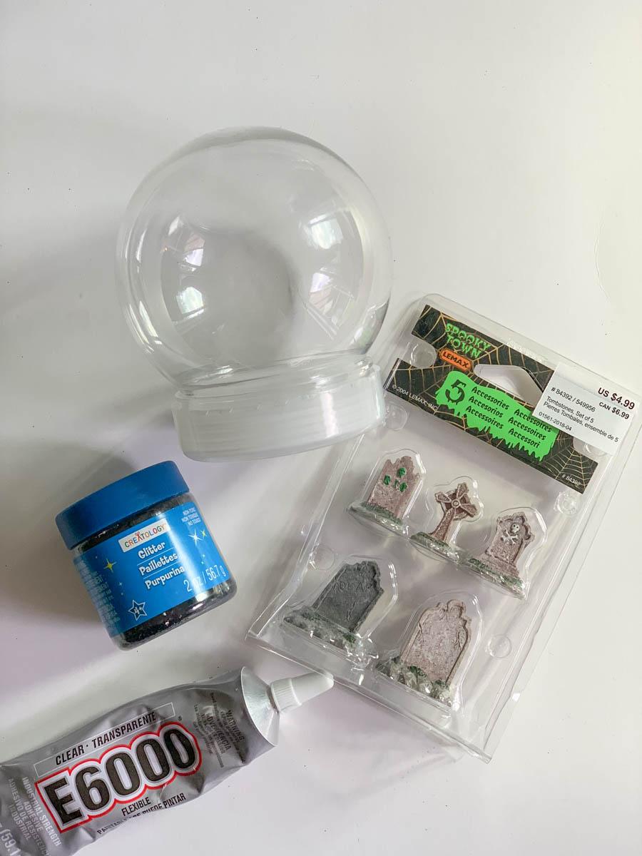 Snow Globe DIY Glitter Halloween Miniatures