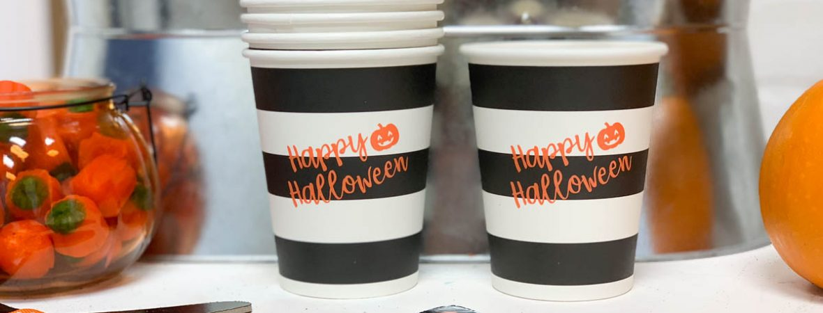 Halloween Cups Halloween Party Table