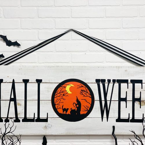 Rustic Wood Halloween Sign