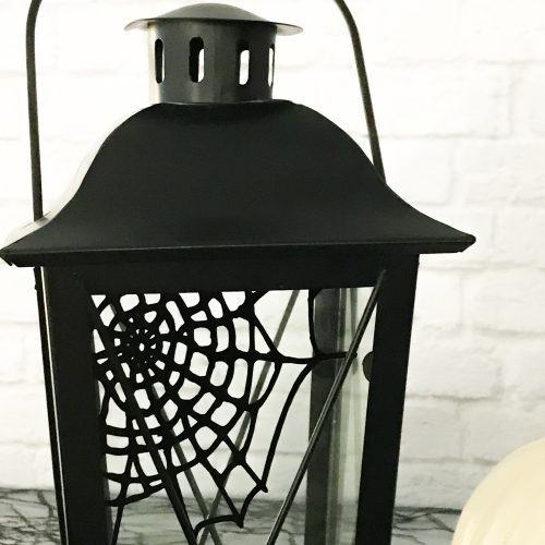 Black Lantern with spider web