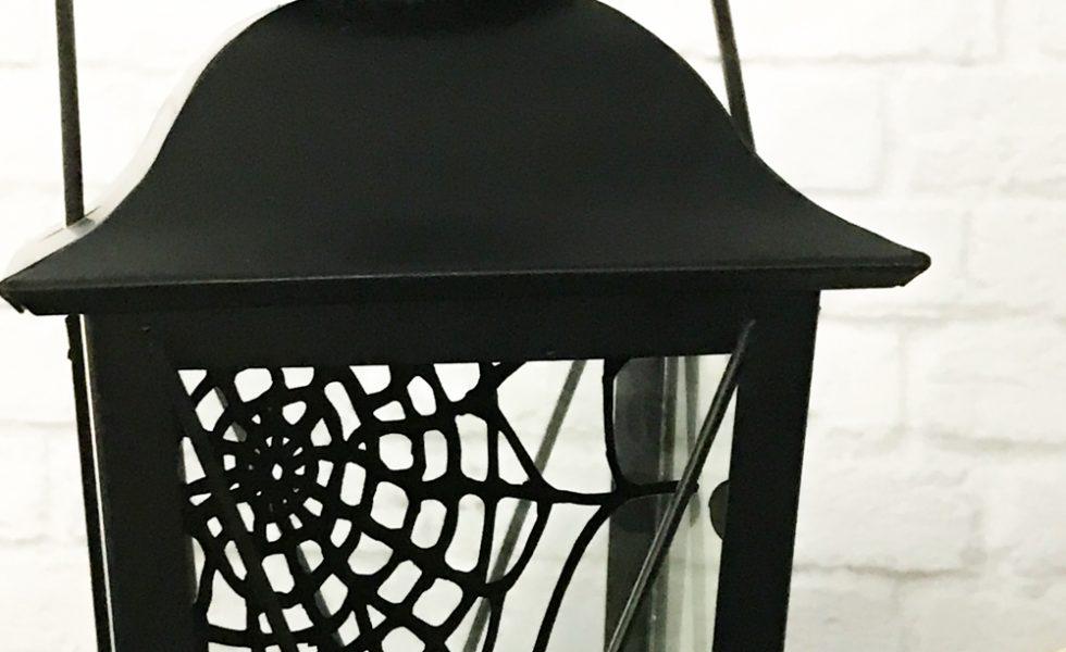 Black Lantern with spider web