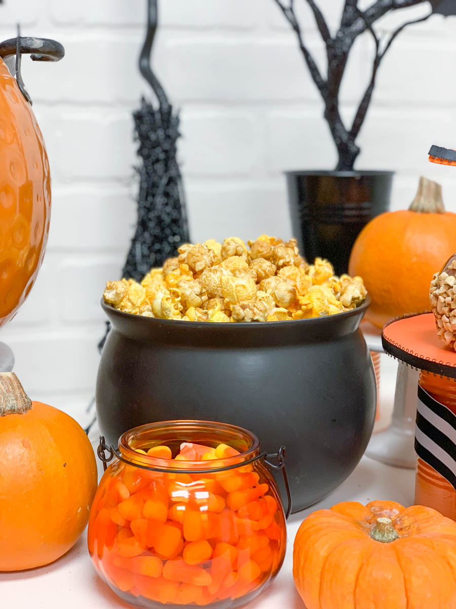 Candy Corns Pumpkin Cauldron