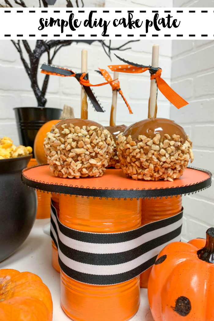 Candy Apples Tin Can Cake Plate