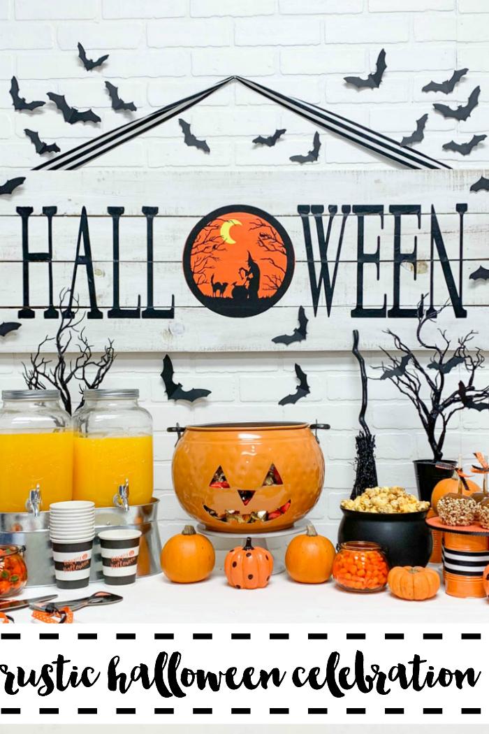 Rustic Halloween Celebration Halloween Party Table