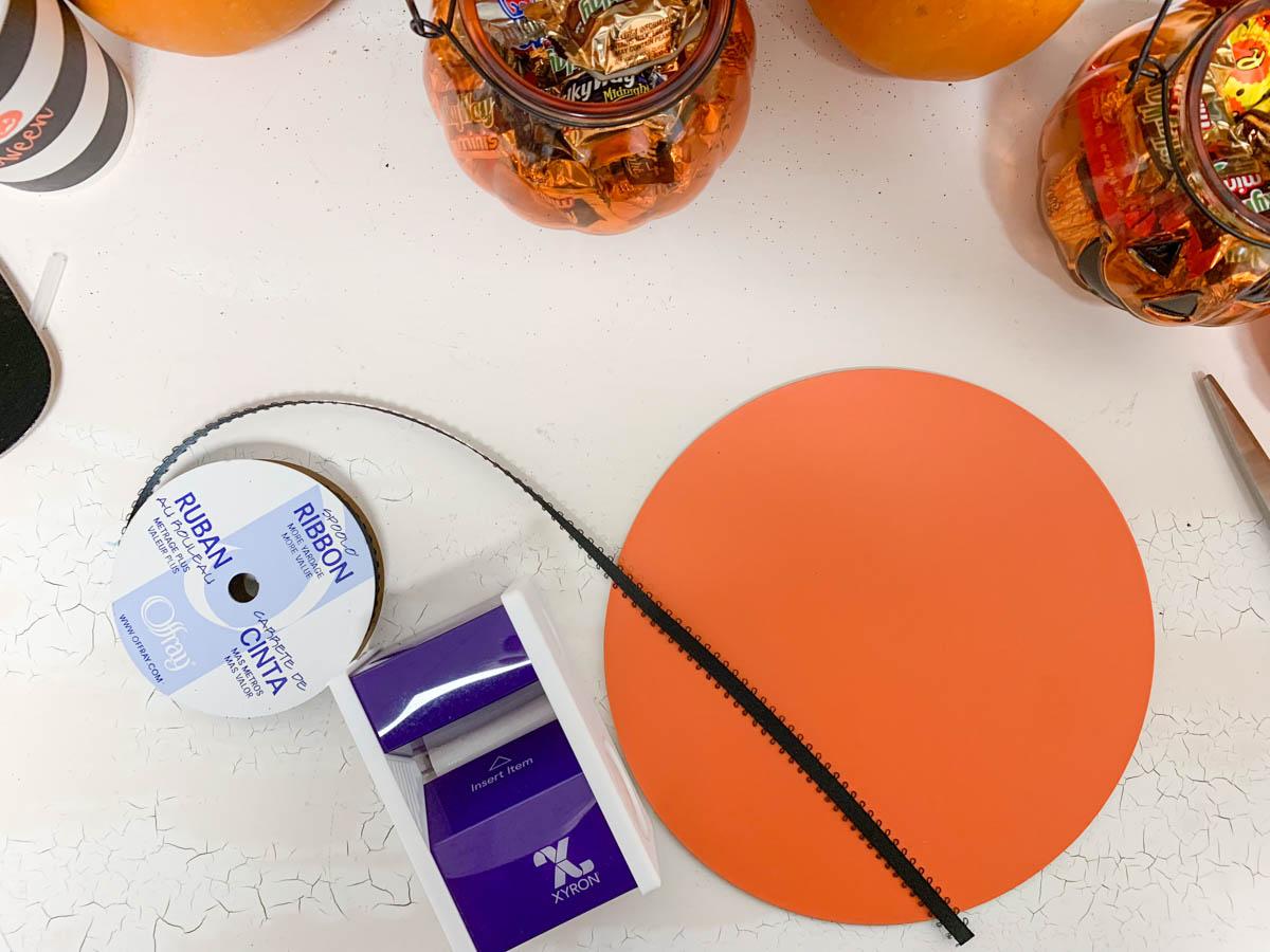 Orange Circle Ribbon Xyron