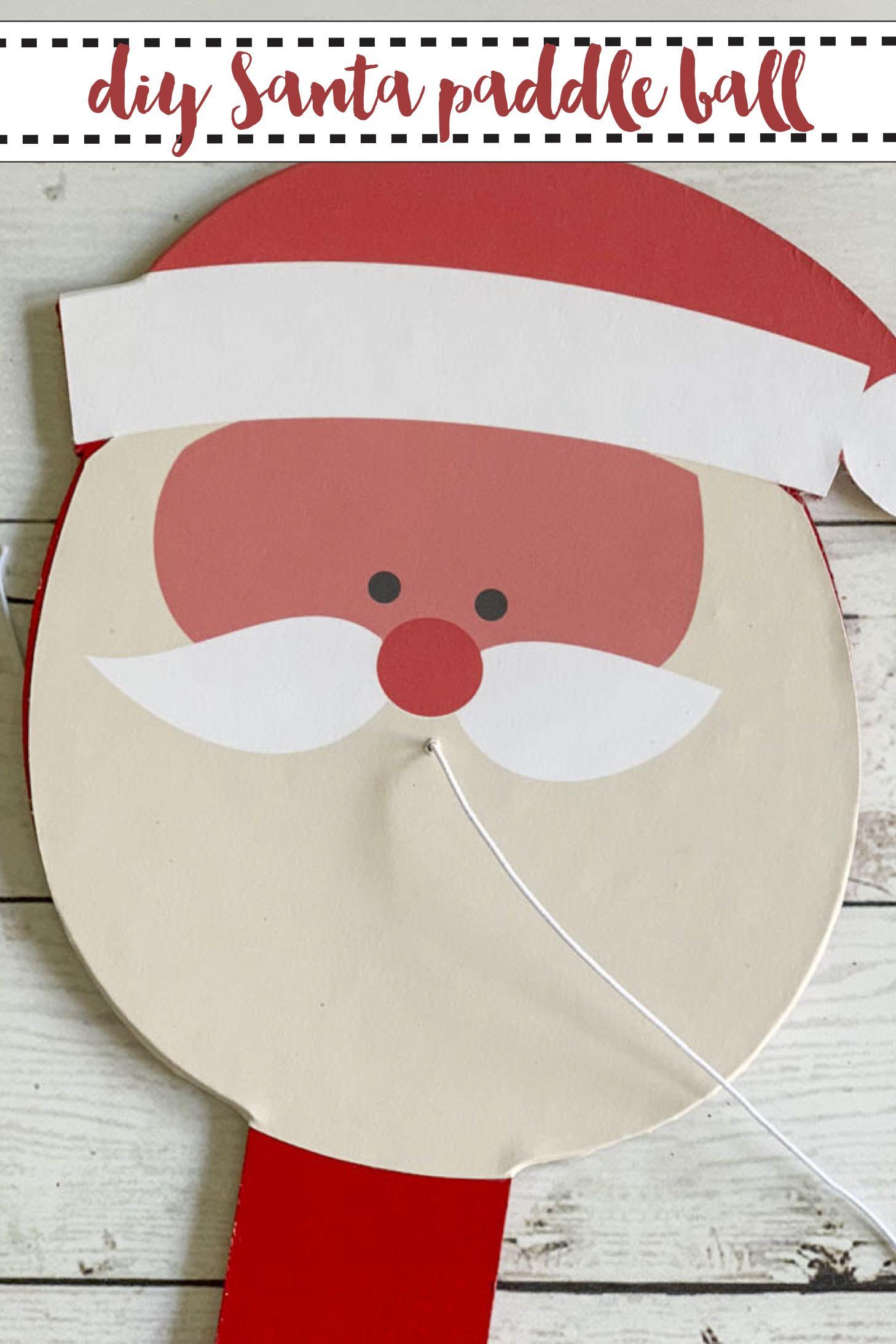 DIY Santa Paddle Ball