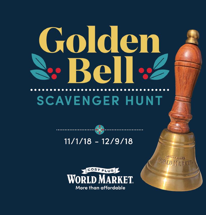 World Market Golden Bell Scavenger Hunt