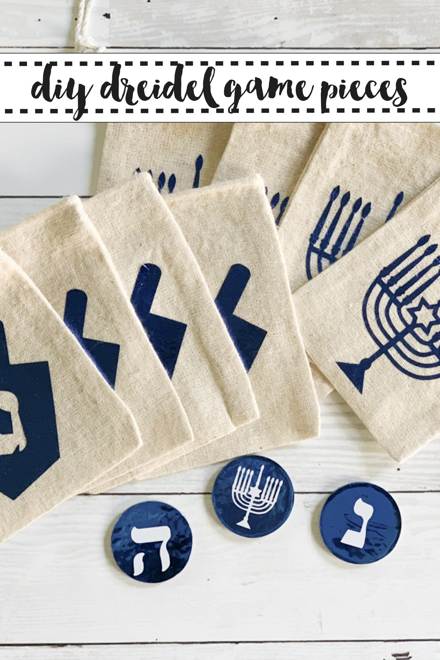Hanukkah Dreidel Game Pieces