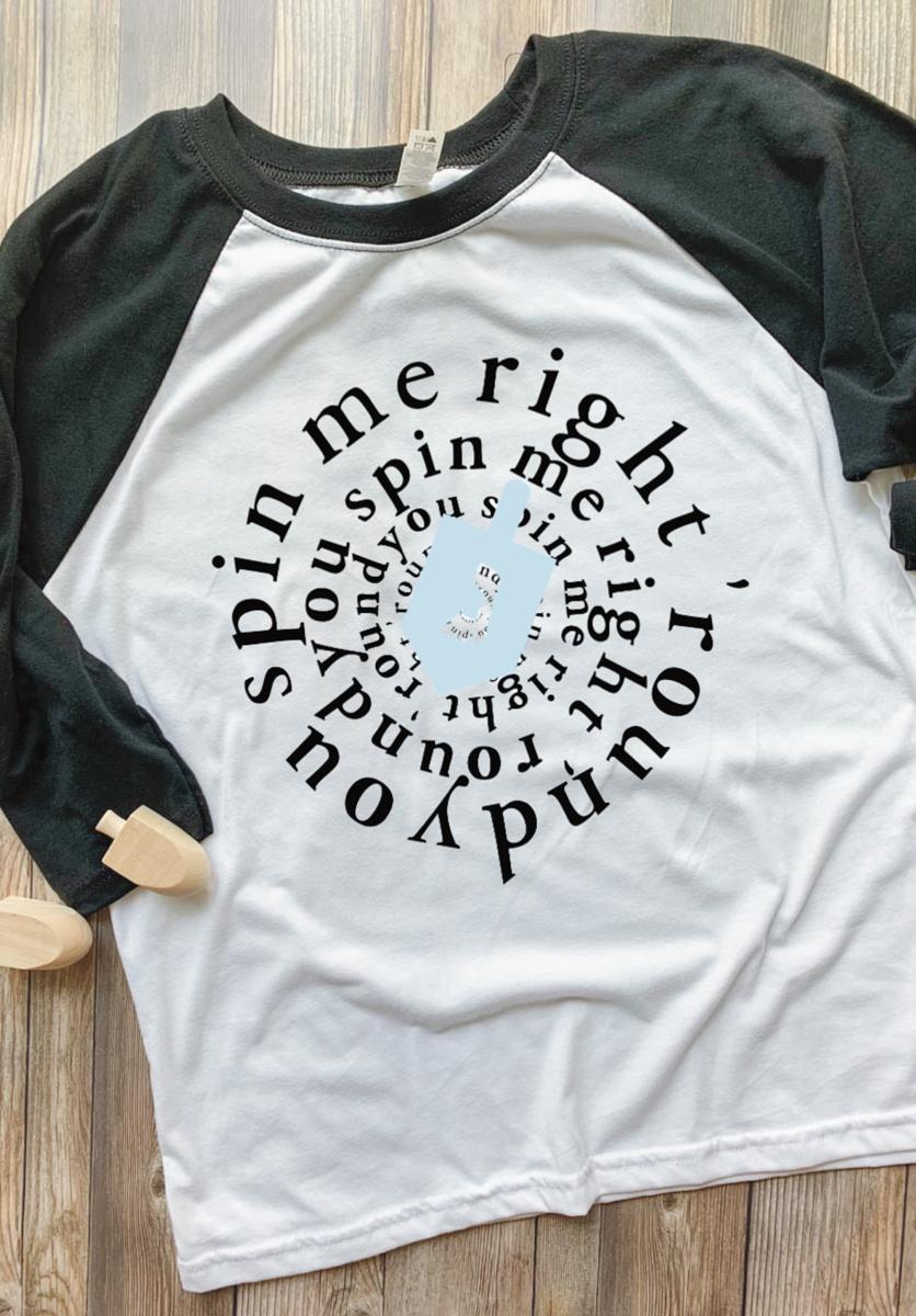 Funny Hanukkah Raglan Shirt