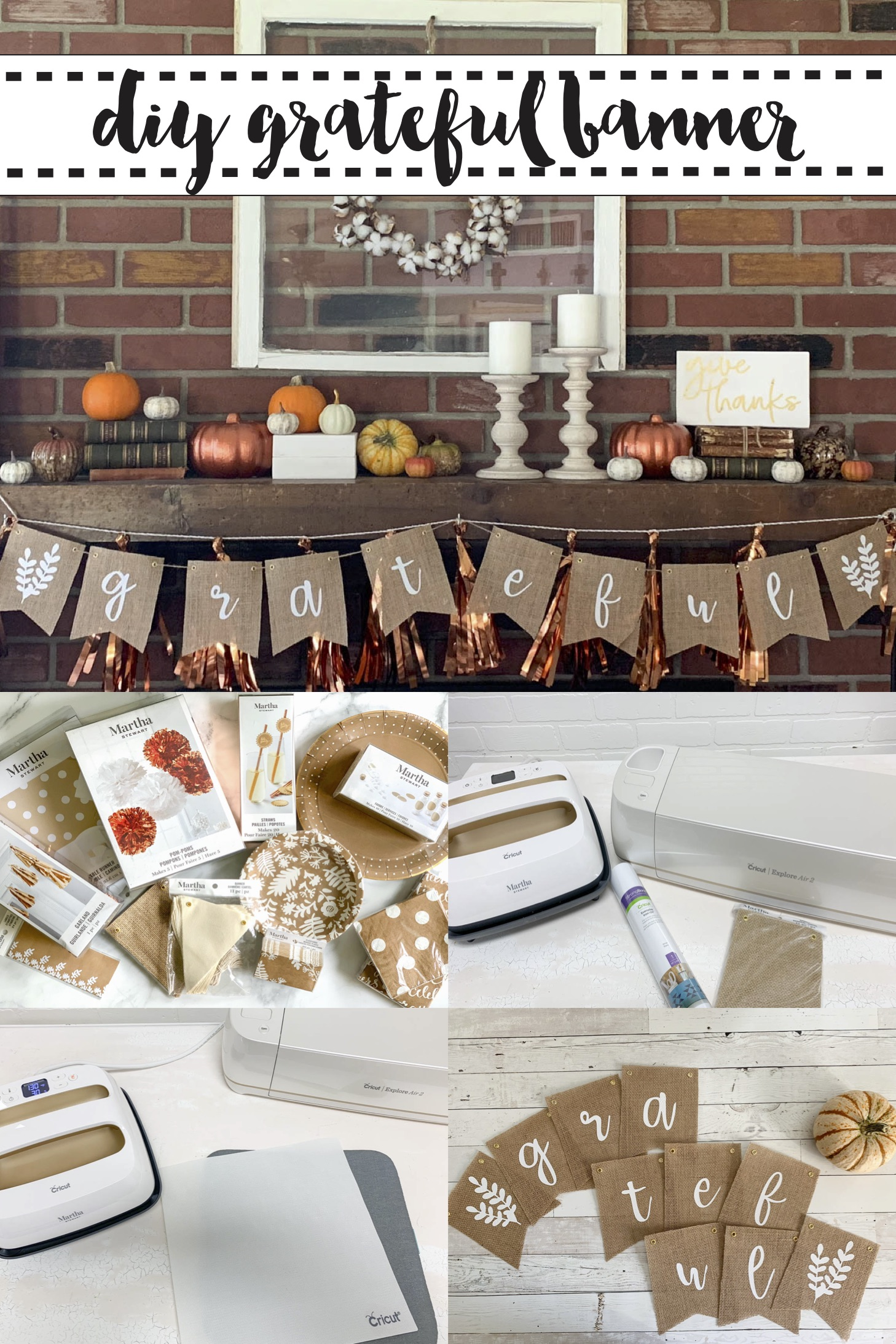 Grateful Banner DIY Collage