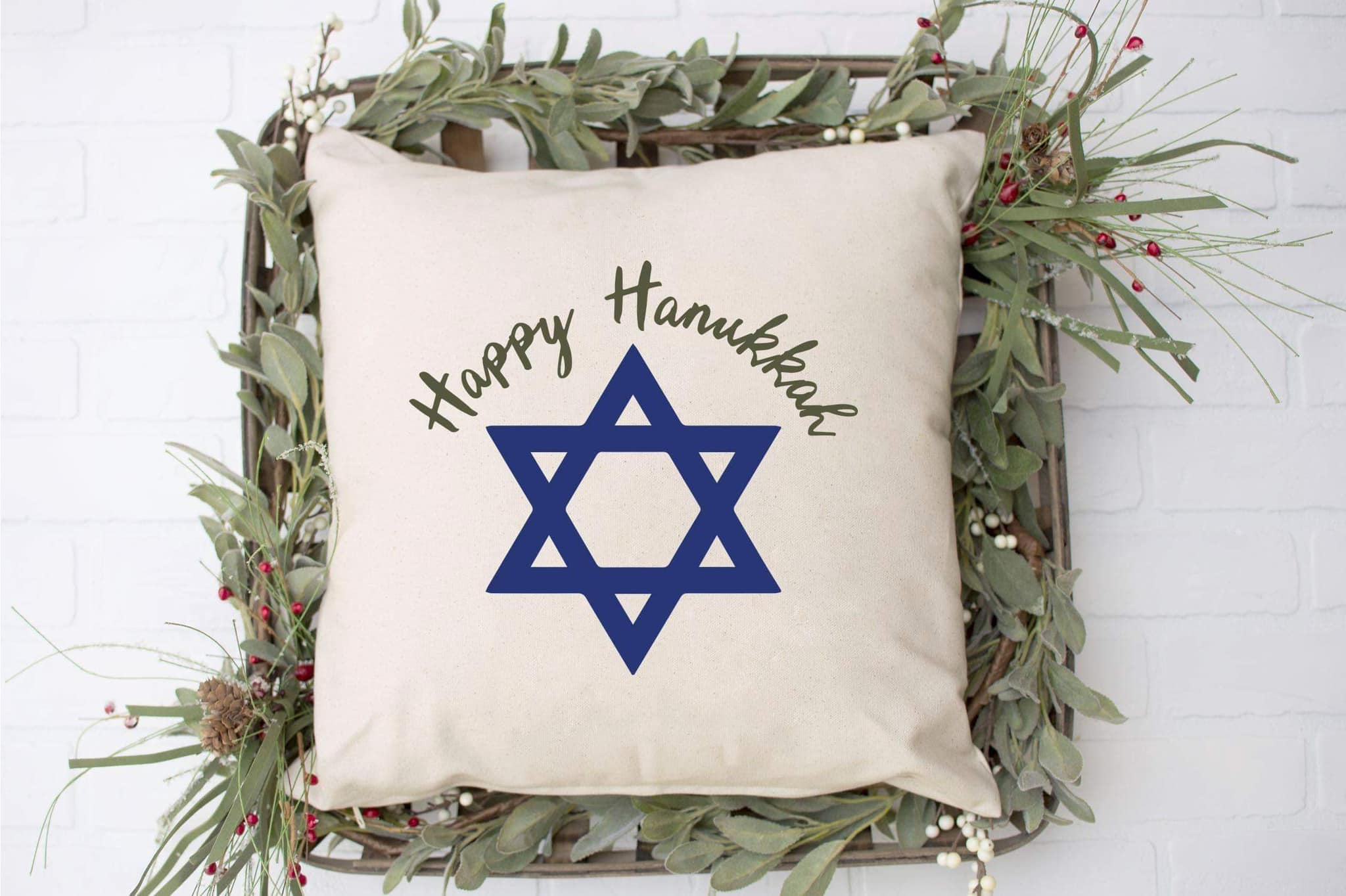 Star of David Hanukkah Pillow