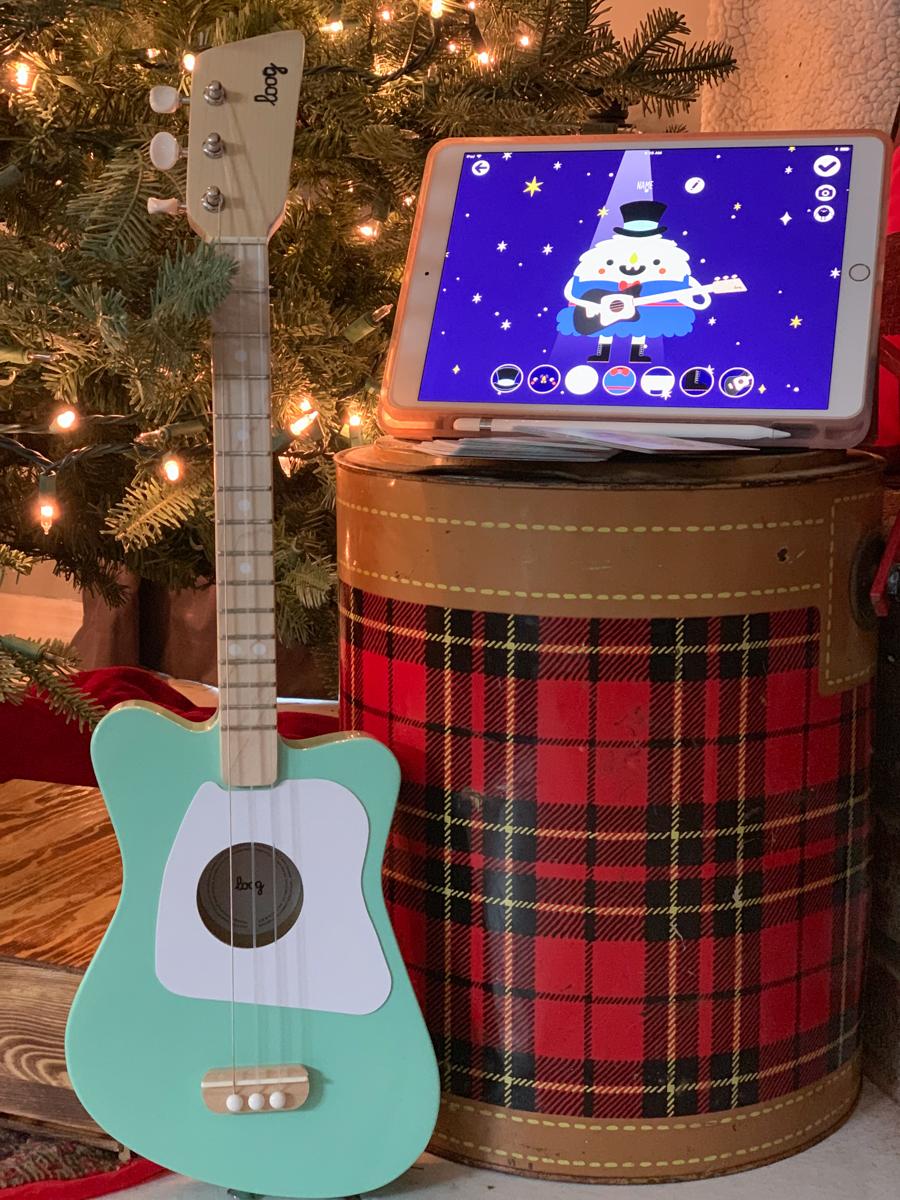 Guitar Christmas Tree Cooler iPad