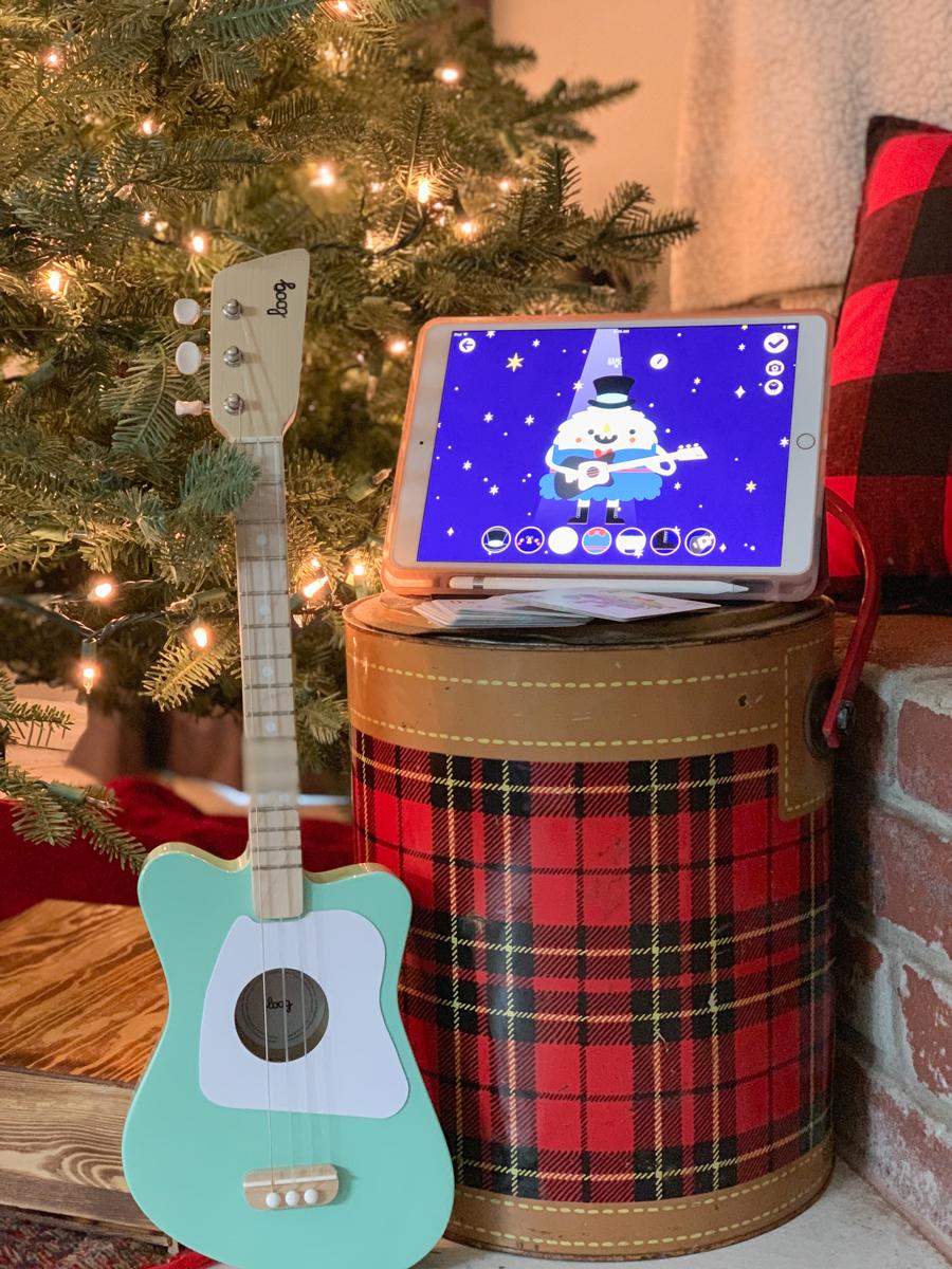 Guitar iPad plaid cooler Christmas tree