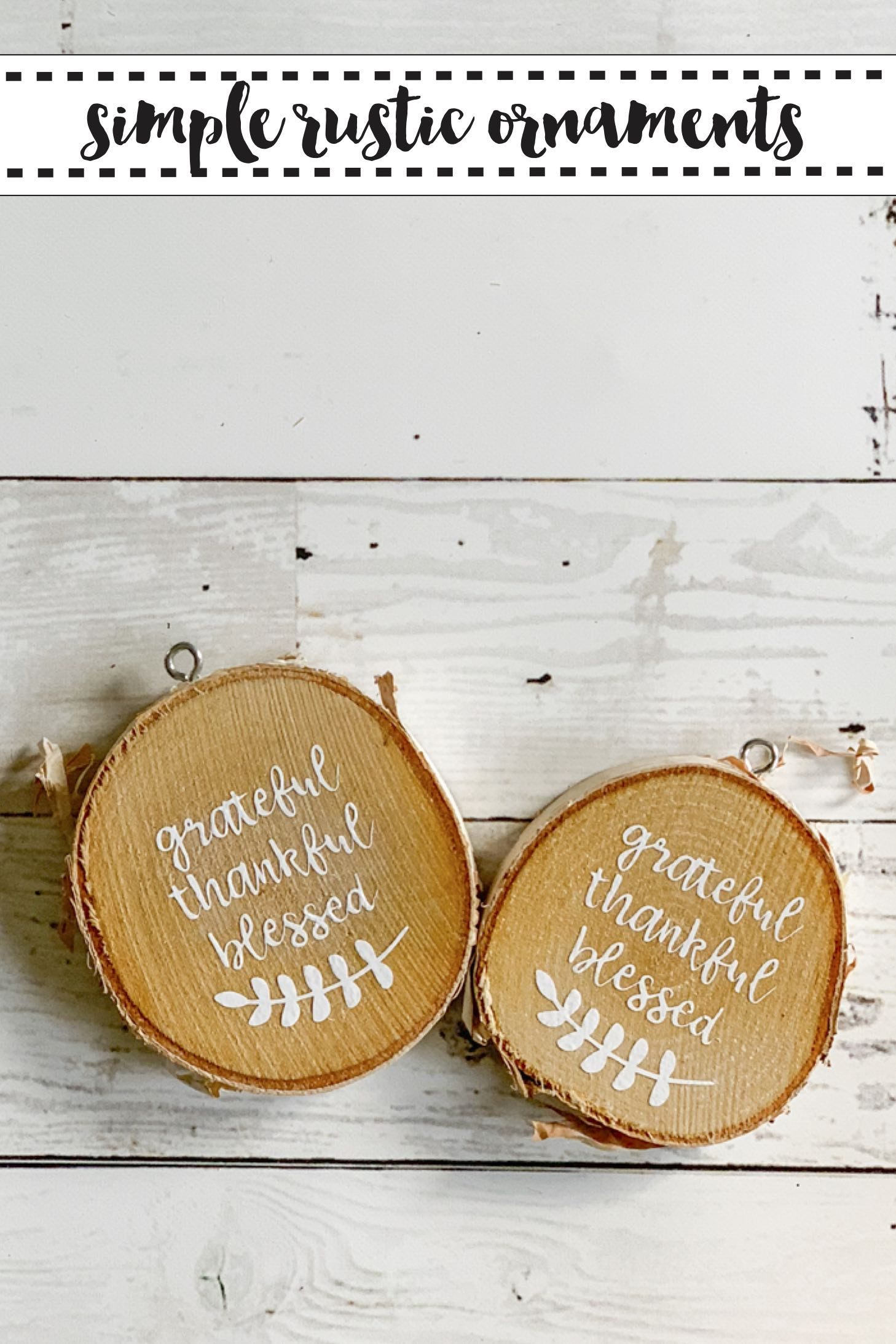 Wooden Disc Ornaments