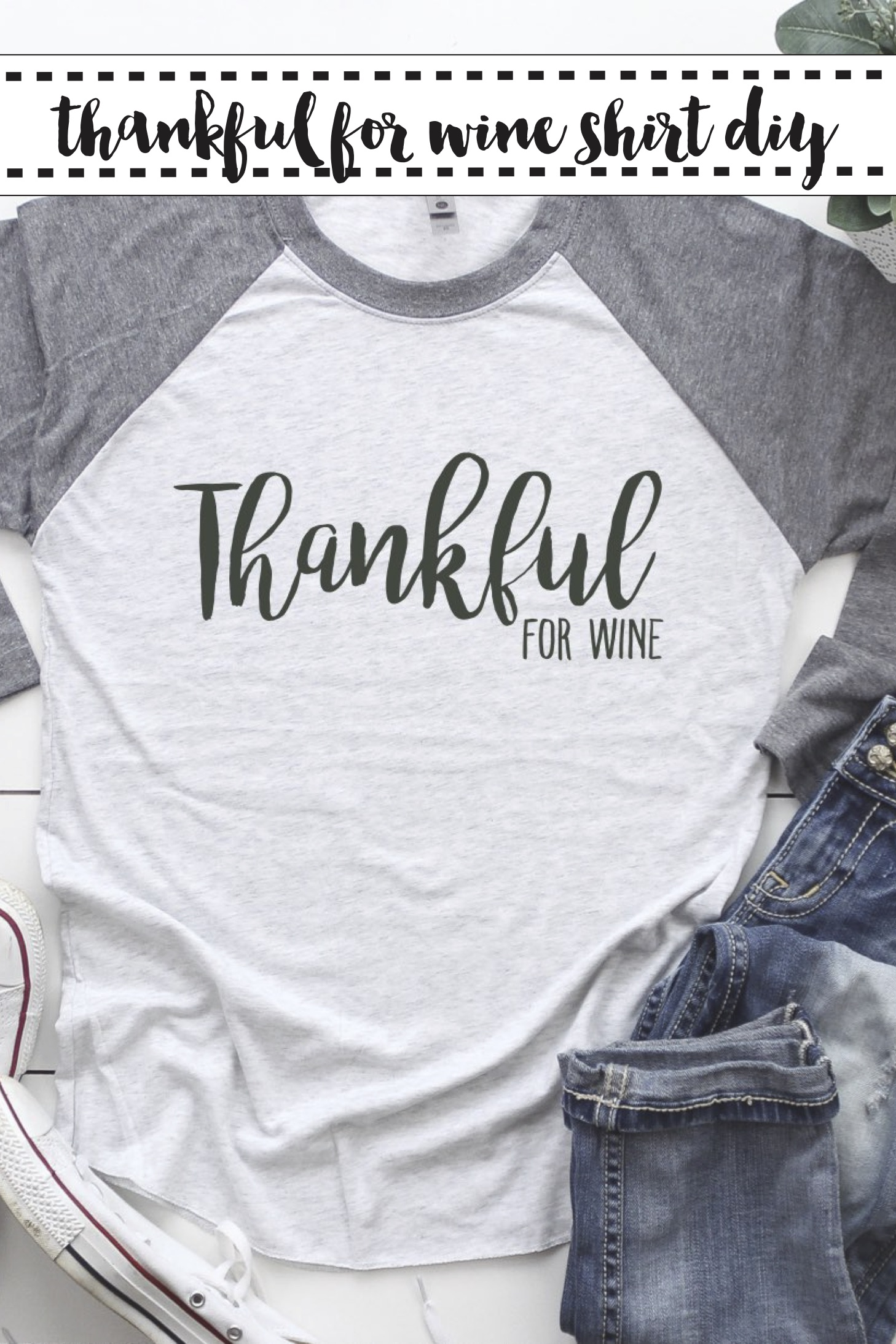 Thankful For Wine Raglan Shirt