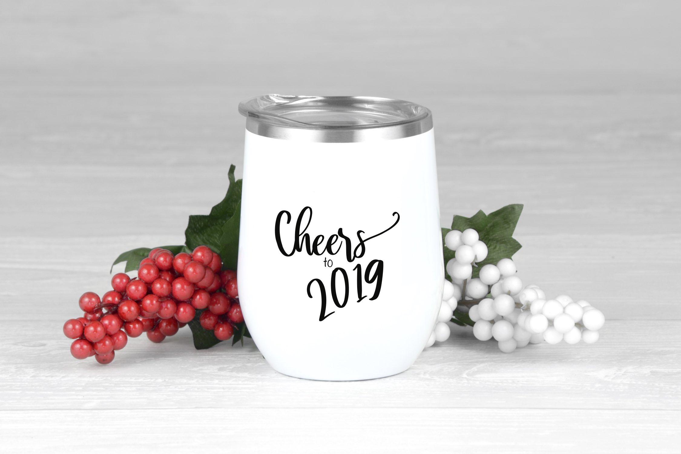 New Year's Wine Tumbler
