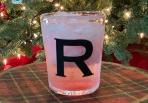 Monogrammed Holiday Beverage