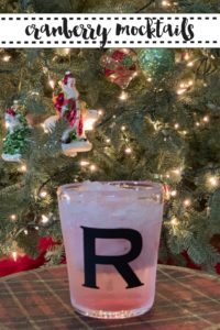 Monogrammed Holiday Drink Glass
