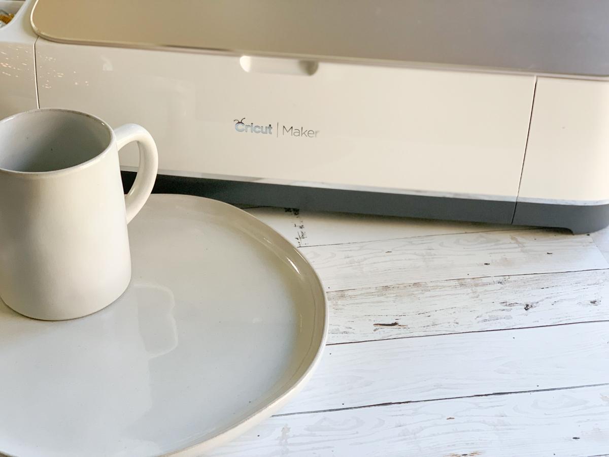 Cricut Maker Stoneware Plate and Mug