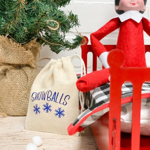 Elf on a Shelf Snowball Bag